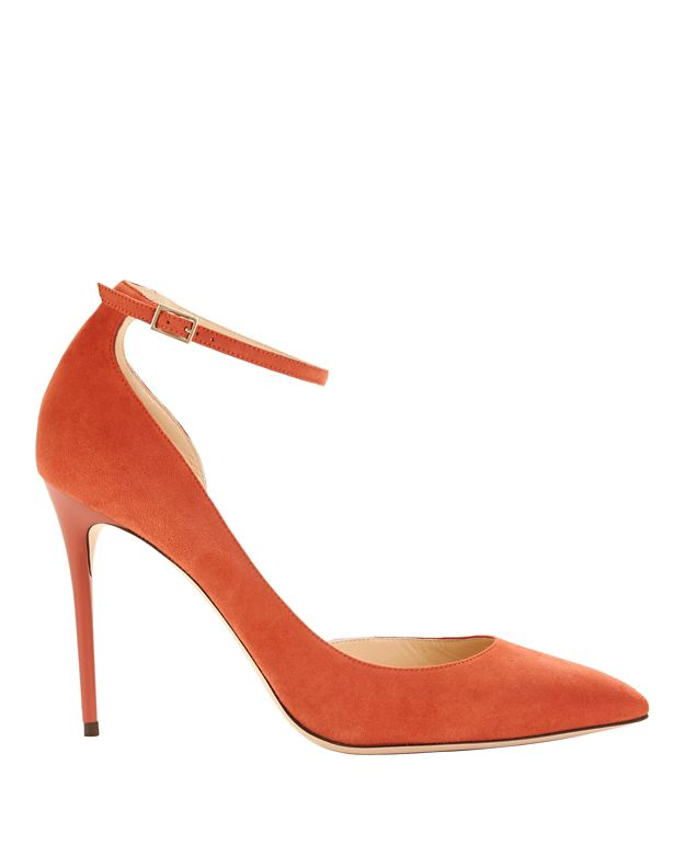 Jimmy Choo Lucy 1/2 D'Orsay Suede Pump: Coral