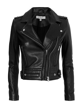 IRO Luiga Moto Black Leather Jacket