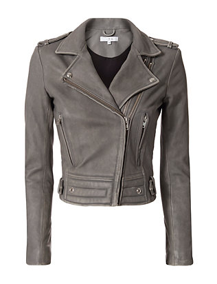 Luiga Grey Moto Leather Jacket