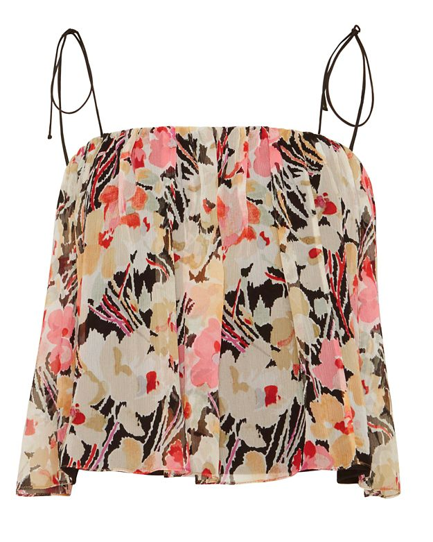 Elizabeth and James EXCLUSIVE Taura Flora Print Top