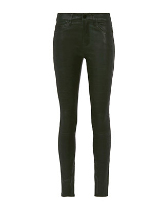 FRAME Le Leather Pine Green Skinny Pants