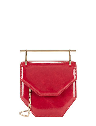 M2Malletier Amor Fati Patent Leather Mini Shoulder Bag