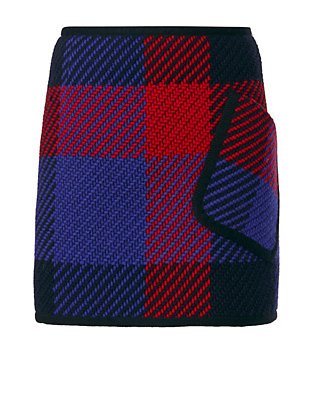 Barbara Bui Check Pattern Pocket Mini Skirt