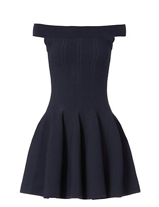 Off The Shoulder Dress: Navy