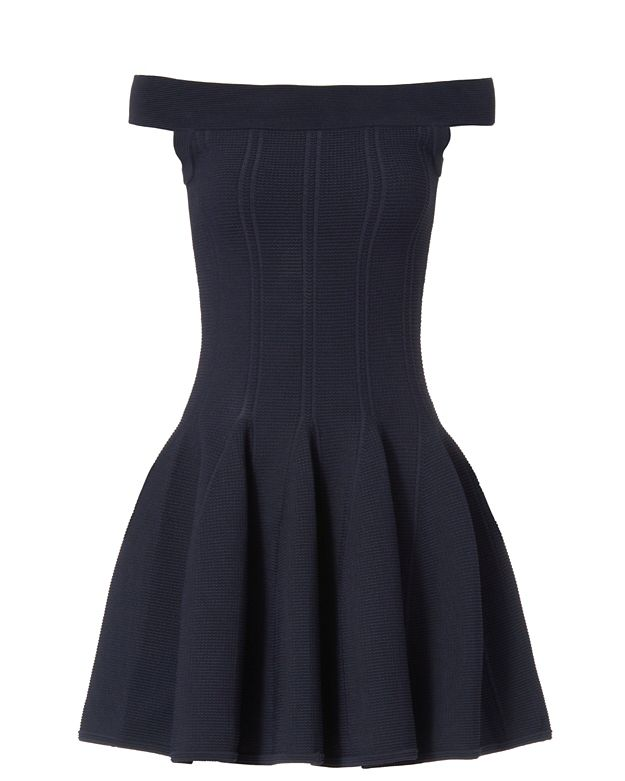 Jonathan Simkhai EXCLUSIVE Off The Shoulder Dress: Navy
