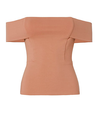 Michelle Mason EXCLUSIVE Off The Shoulder Top: Terracotta