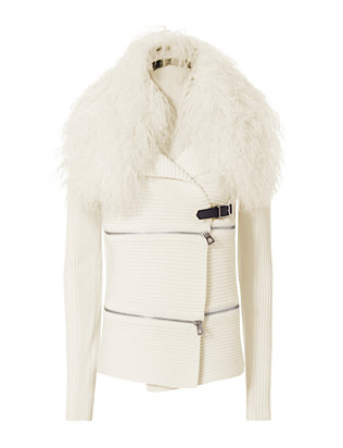 Barbara Bui Ivo Zip Sweater: Ivory