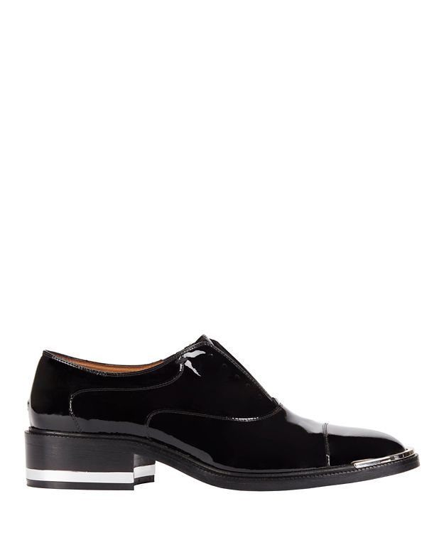 Barbara Bui Black Patent Leather Loafers