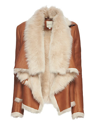 mason by michelle mason EXCLUSIVE Shearling Jacket: Brown