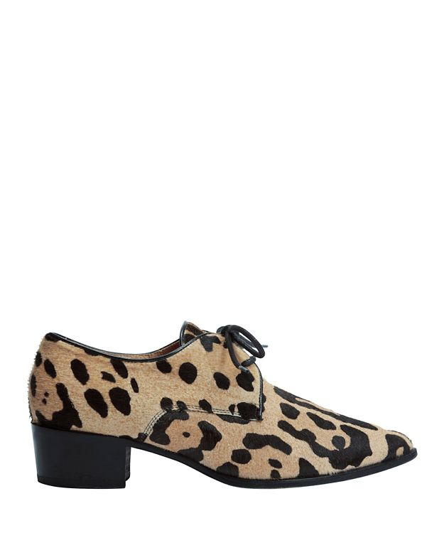 Barbara Bui EXCLUSIVE Haircalf Leopard Lace-Up Loafer