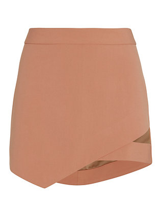 Michelle Mason EXCLUSIVE Cut Out Mini Skirt: Nude