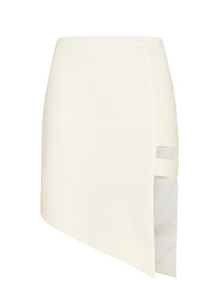 mason by michelle mason Asymmetric Cage Mini Skirt