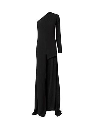 One Shoulder Maxi Skort Dress