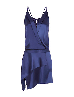 Michelle Mason Cami Cross Front Mini Dress