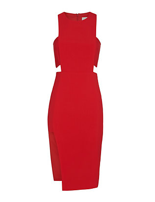 Michelle Mason Bandeau Dress: Red