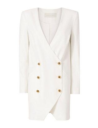 Blazer Dress: White