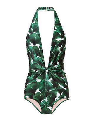 Ginkgo Halterneck Swimsuit- FINAL SALE