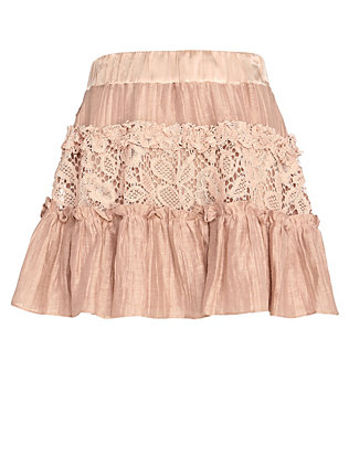 Alexis Mallory Lace Inset Flare Skirt
