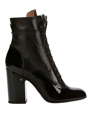 Manon Patent Leather Lace-Up Boots
