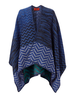 Missoni Double Faced Scarf Poncho