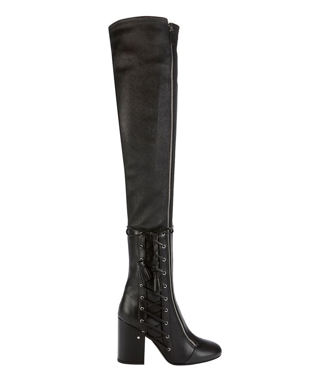 Laurence Dacade Maren Lace-Up Stretch Leather OTK Boot