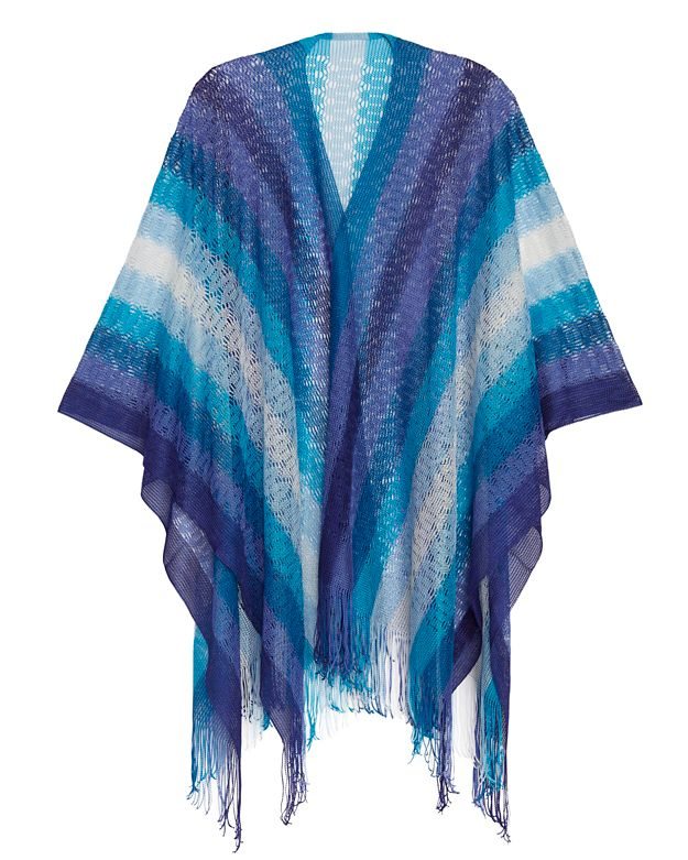 Missoni Striped Long Caftan/Cape