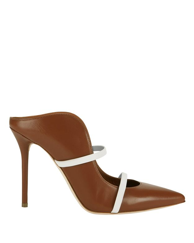 Malone Souliers EXCLUSIVE Maureen Strappy Vamp Pointy Toe Slide Pump