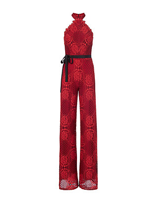 Alexis EXCLUSIVE Maylina Halter Lace Jumpsuit