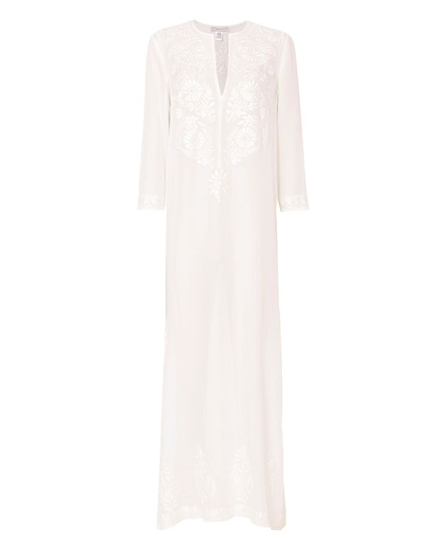 Marie France Van Damme Embroidered Long Tunic