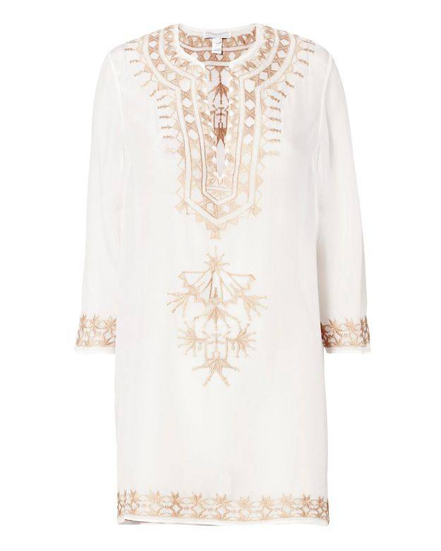 Marie France Van Damme Embroidered Short Tunic