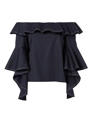 Alexis Michelle Off The Shoulder Bell Sleeve Top