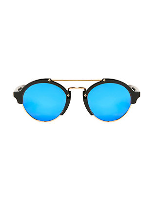 Illesteva Milan II Black Mirrored Sunglasses