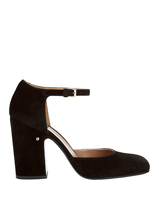Mindy Suede Ankle Strap Pumps