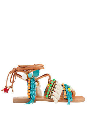 Elina Linardaki Mojitos Gladiator Leather Sandals