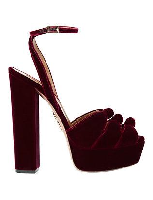 Mira Velvet Platform Sandals