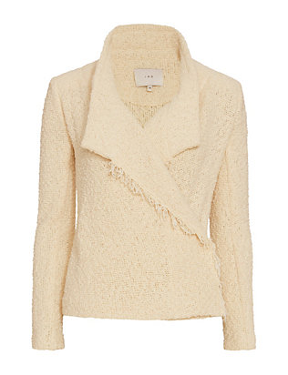 IRO Mira Fringed Hem Shawl Collar Jacket