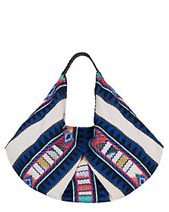 Christophe Sauvat EXCLUSIVE Moonwest Printed Cotton Hobo