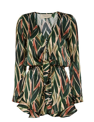 Adriana Degreas EXCLUSIVE Araruta Print Romper