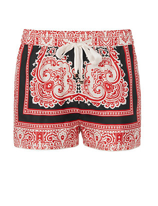 For Restless Sleepers Glauco Printed Silk Shorts