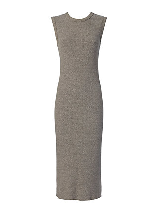 Enza Costa EXCLUSIVE Sleeveless Ribbed Dress: Grey
