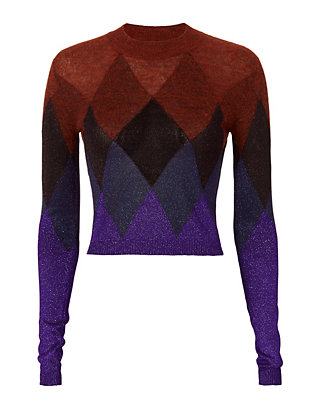 Marco De Vincenzo Argyle Lurex Sweater