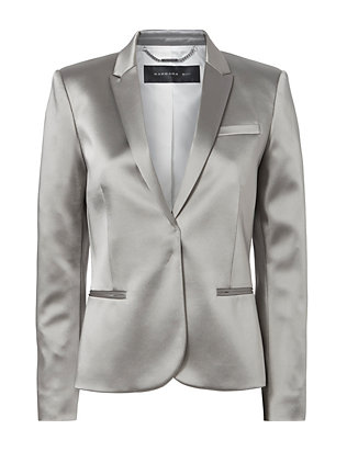 Barbara Bui High-Shine Silver Blazer