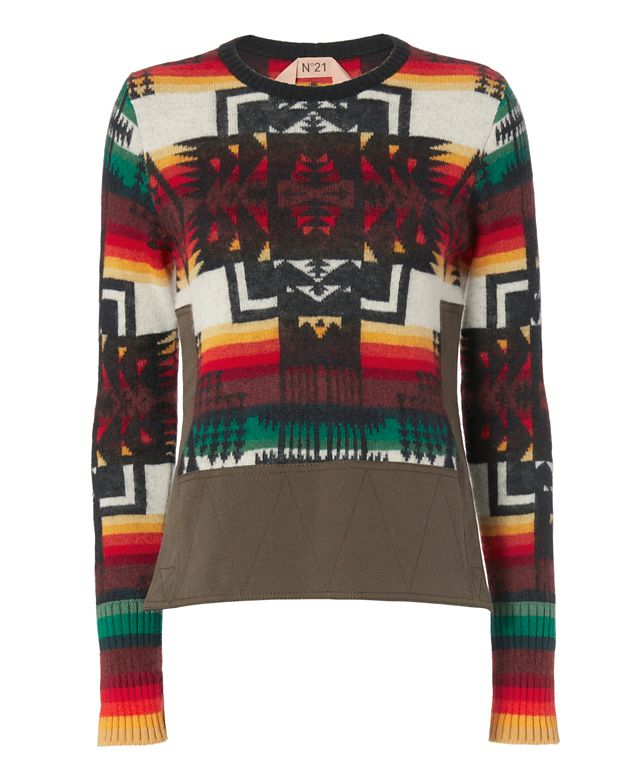 No. 21 Split Side Tribal Pullover
