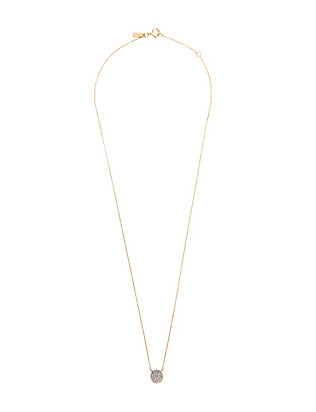 Adina Reyter Pave Diamond Disc Necklace