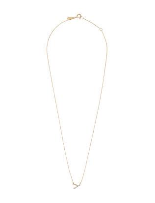 Pavé Diamond Wishbone Necklace