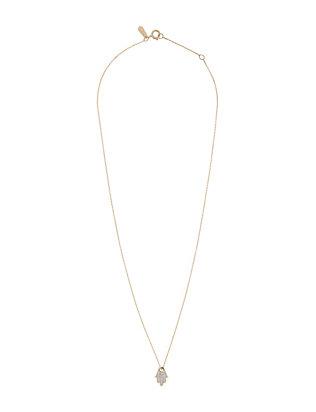 Pavé Diamond Hamsa Necklace