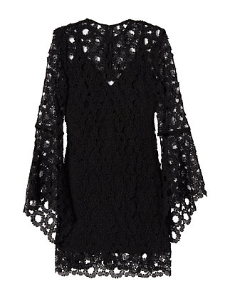Nicholas Wreath Lace Bell Sleeve Dress