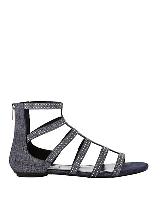 Jimmy Choo Nix Flat Denim Sandals