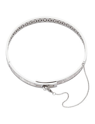 Pavé Safety Chain Silver-Tone Choker