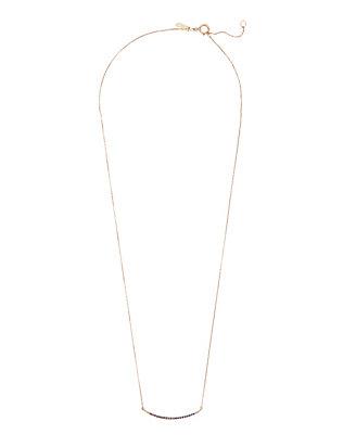 Pavé Sapphire Curved Bar Necklace